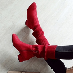 Shoespie Chunky Heel Casual Ankle Boots