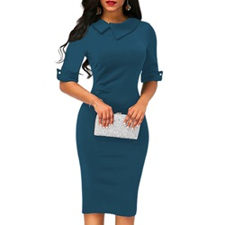 Half Sleeve Asymmetric Bodycon Dresses