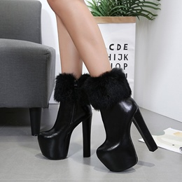 Shoespie Winter Platform Chunky Heel Women's Boots