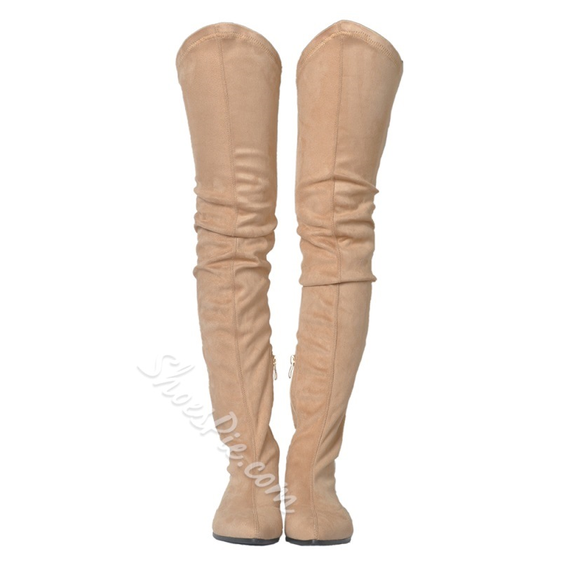 Shoespie Zipper Block Heel Fashion Thigh High Boots