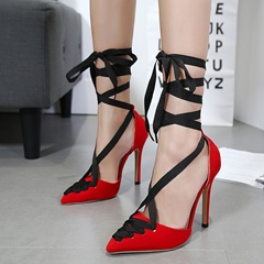 High Stiletto Heel Lace-Up Women's Shoes
