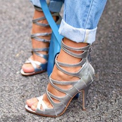 Peep Toe High Stiletto Heel Gladiator Sandals