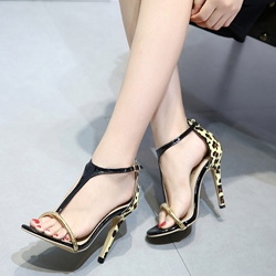 Stiletto Heel Leopard Sexy Dress Sandals