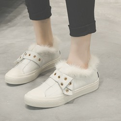 Shoespie White Short Floss Sneakers