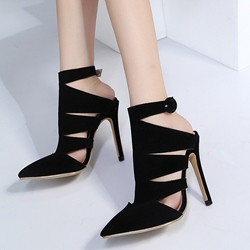 Pointed Toe Buckle High Stiletto Heels