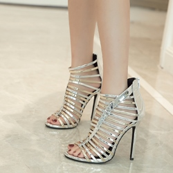 Hollow High Stiletto Heel Dress Sandals