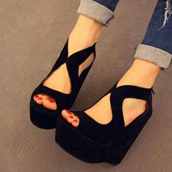 Shoespie Sexy Peep Toe High Wedge Heel Sandals