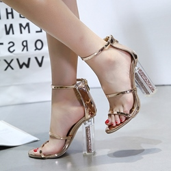 Patent Leather Sexy Stiletto Heel Dress Sandals
