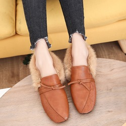 Shoespie Block Heel Lace Up Casual Loafers