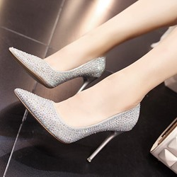 Shoespie Rhinestone Stiletto Heel Bridal Women's Shoes
