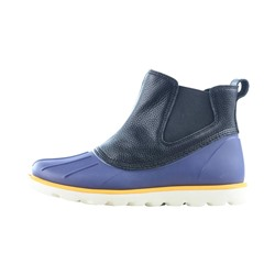 Elastic Round Toe Color Block Duck Boots