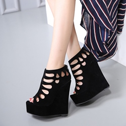Sexy High Wedge Heel Peep Toe Women's Shoes