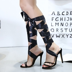 Lace Up High Stiletto Heel Sexy Sandals