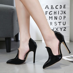 Sexy Patent Leather High Stiletto Heels