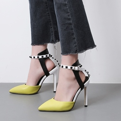 Shoespie Ankle Strap Buckle Stiletto Heels