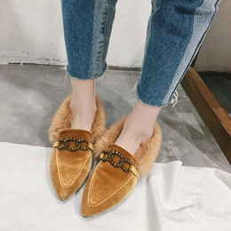 Shoespie Pointed Toe Sexy Block Heel Short Floss Loafers
