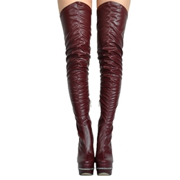 Sexy Stiletto Heel Platform Thigh High Boots