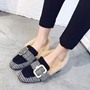Shoespie Chunky Heel Buckle Casual Loafers