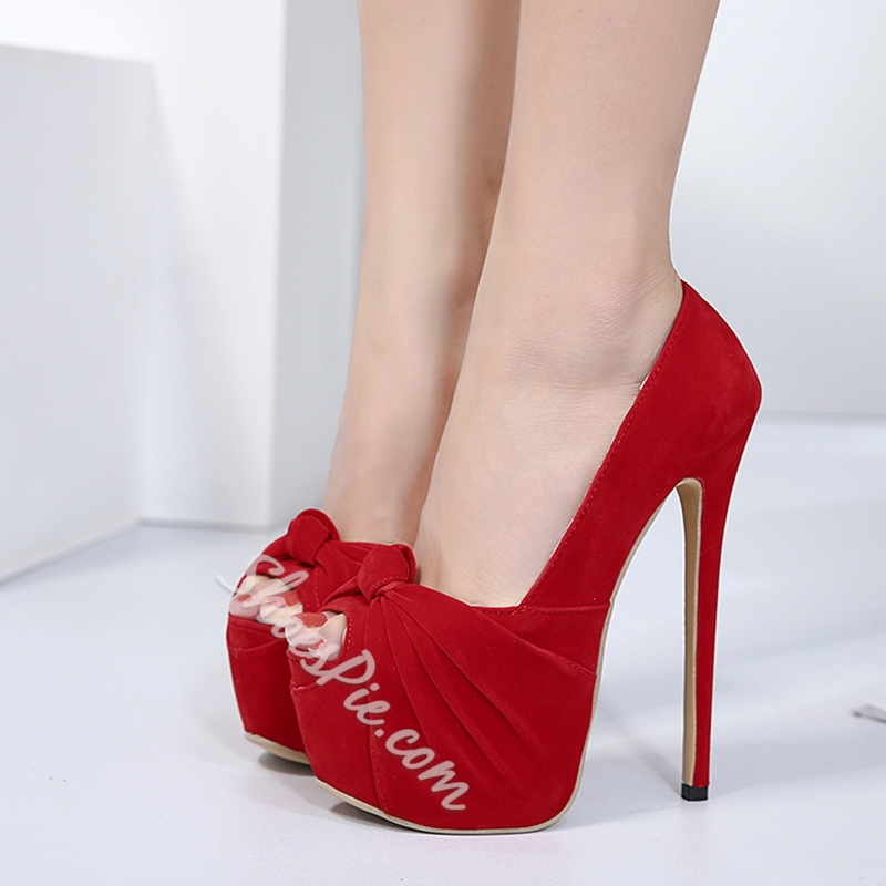 Sexy High Stiletto Heel Platform Women's Shoes
