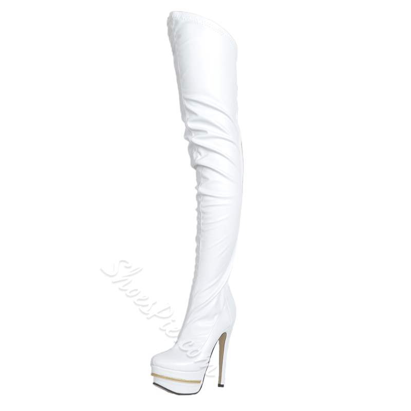 Shoespie Sexy Stiletto Heel Platform Thigh High Boots