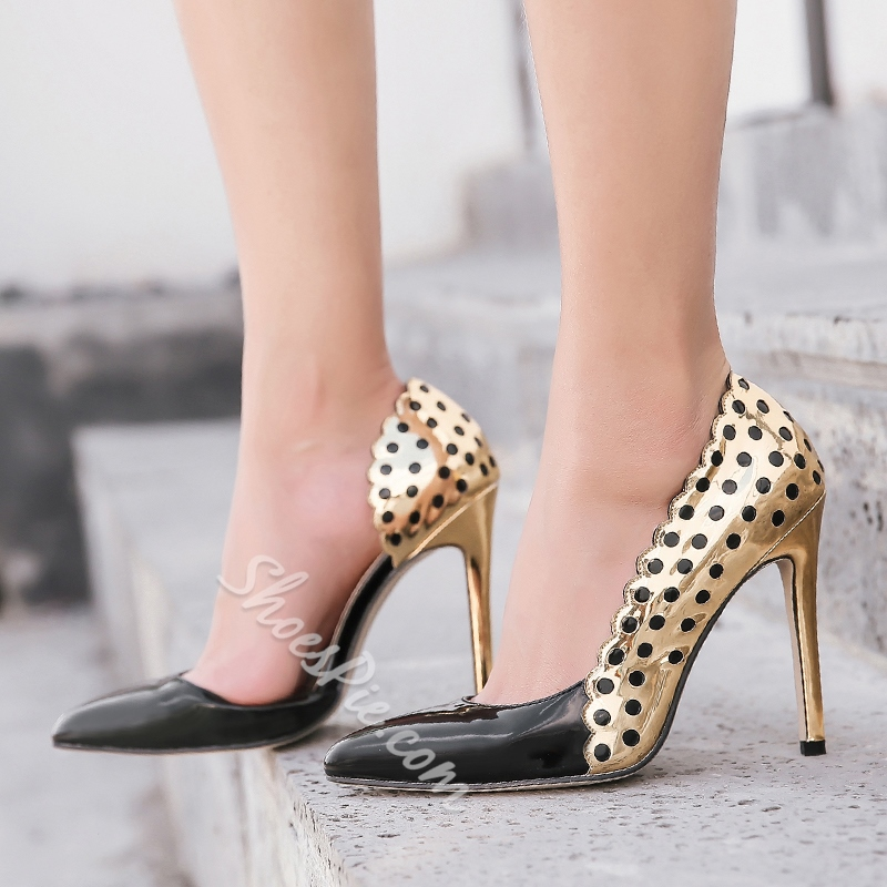 Color Block High Stiletto Heel Pumps