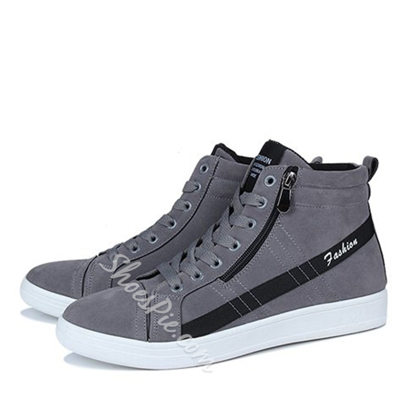 Casual Lace-Up Men's Sneakers