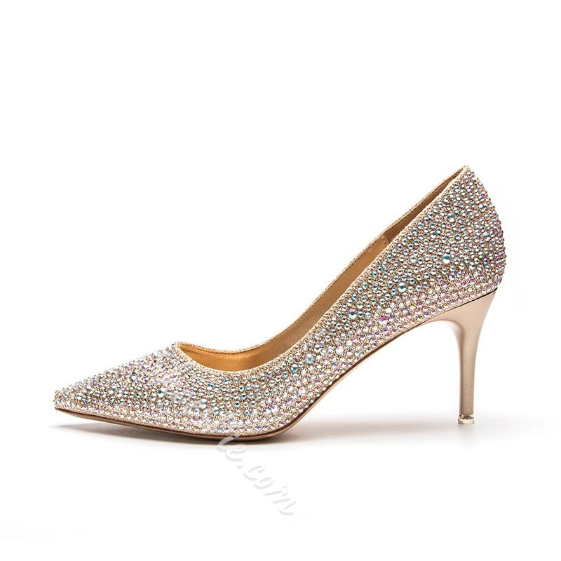 Rhinestone Stiletto Heel Bridal Women's Shoes