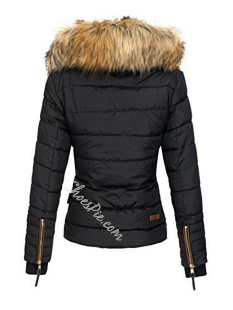 Zipper Slim Long Sleeve Standard Women's Jacket