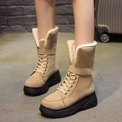 Winter Cross Strap Platform Snow Boots