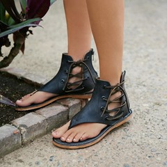 Shoespie Heel Covering Lace Sandals