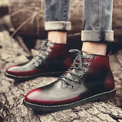 Lace-Up Front Men's Oxfords Round Toe Martin Boots