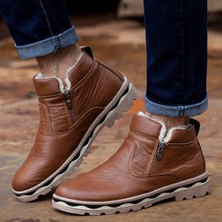 Casual Round Toe Men's Snow Boots