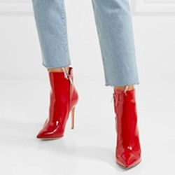 Red Stiletto Heel Fashion Women's Boots