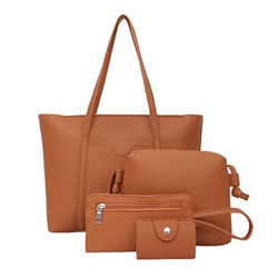 Shoespie Concise Solid Color Women Bag Set (4 Bag Set)