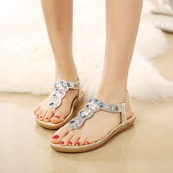 Rhinestone Thong Casual Sandals