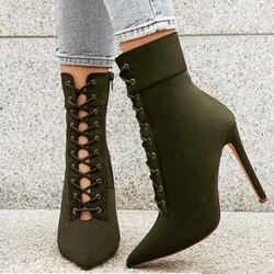 Stiletto Heel Cross Strap Hollow Boots