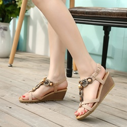 Open Toe Casual Wedge Heel Sandals