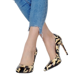 Shoespie Casual Print Stiletto Heel Pumps
