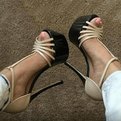 Sexy Peep Toe High Stiletto Heels