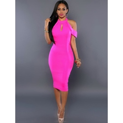 Cap Sleeve Off-The-Shoulder Bodycon Dresses
