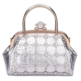 Shoespie Rhinestone Decoration Evening Clutch