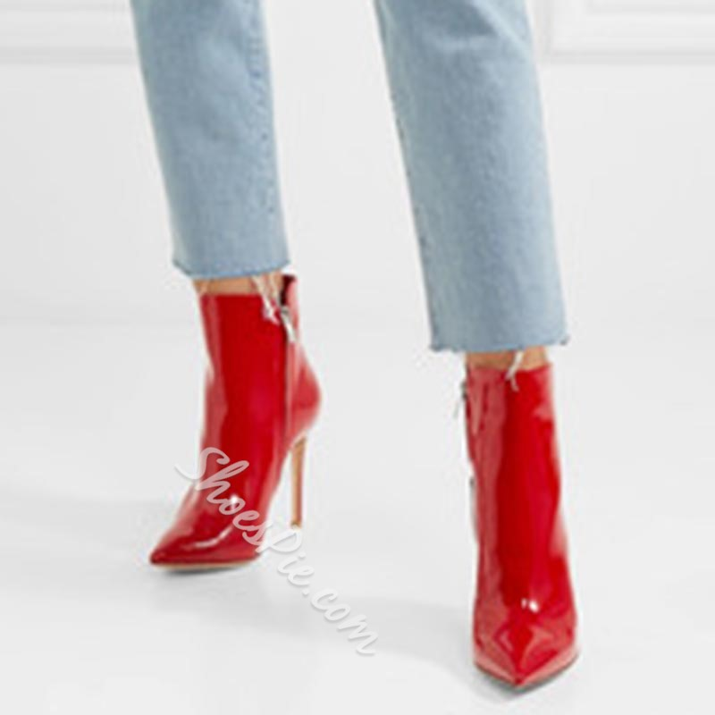 Shoespie Red Stiletto Heel Fashion Women's Boots
