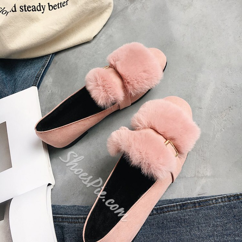 Short Floss Buckle Casual Women's Shoes