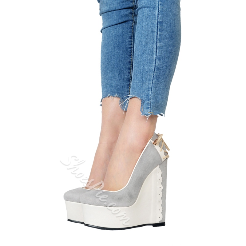 Slip-On Platform High Wedge Heels