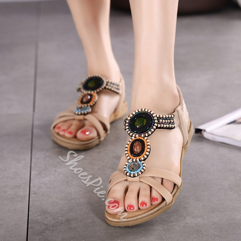 Strappy Open Toe Casual Flat Sandals