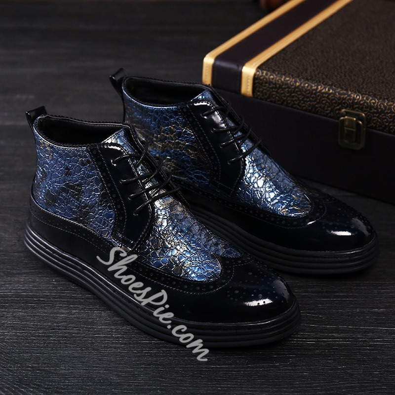 Lace-Up Sneakers Fashion Men's Boots
