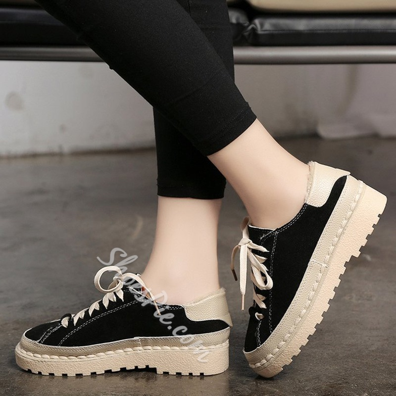 Shoespie Casual Round Toe Sneakers
