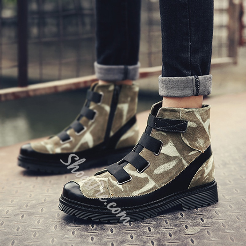 Fashion Camouflage Men's Boots