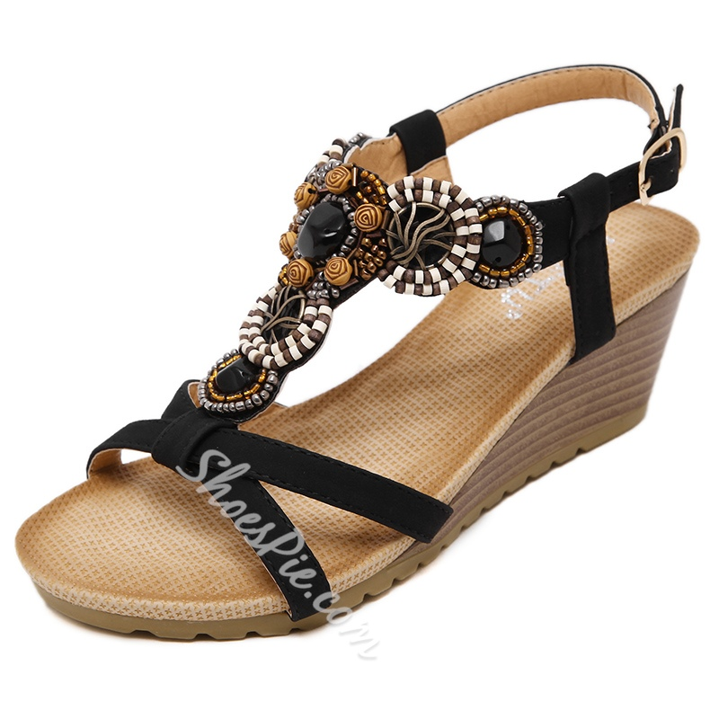 Shoespie Open Toe Casual Wedge Heel Sandals