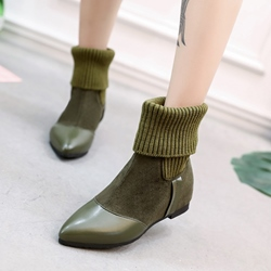 Casual Block Heel Slip-On Fashion Boots